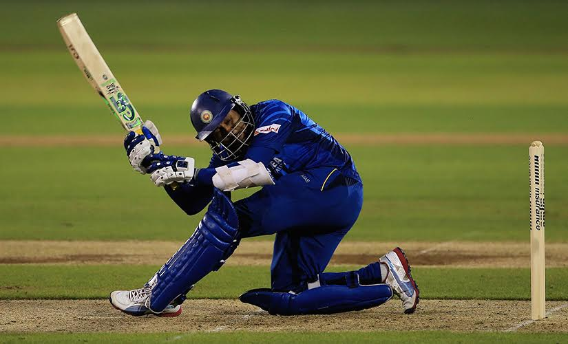 Dilshan enchanted cricket fans with his Dilscoop. Getty