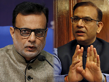 Hasmukh Adhia and Jayant Sinha