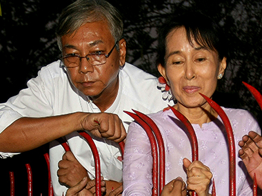 File photo of Htin Kyaw. AFP