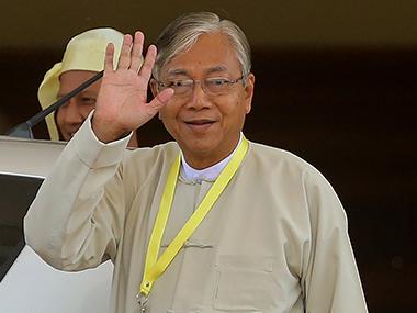 Myanmar's President U Htin Kyaw. AFP