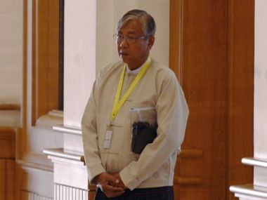 Htin Kyaw, a trusted confidante of Suu Kyi. AFP