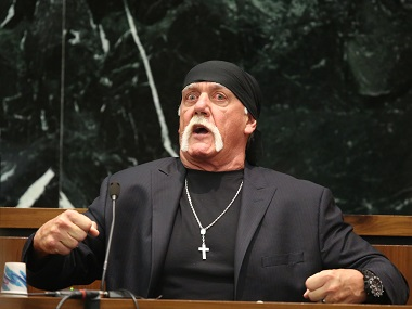 Hulk Hogan testifies in court. AP