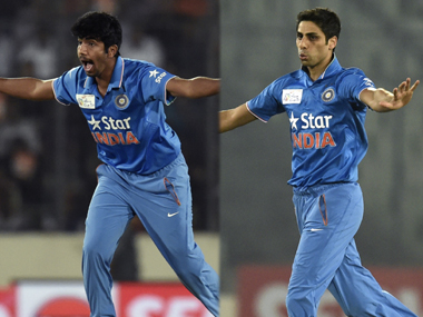 Ashish Nehra and Jasprit Bumrah have kept a tight leash on proceedings. AFP