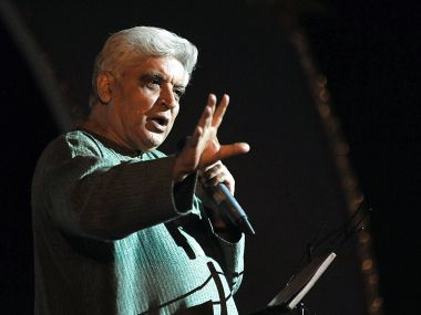A file photo of Javed Akhtar. AFP
