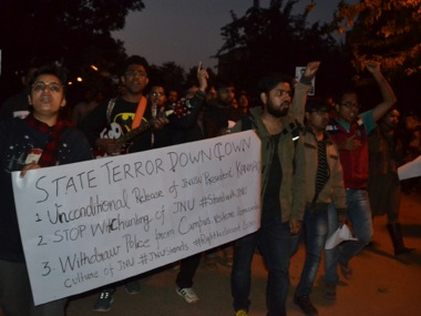 File image of JNU protets. Tarique Anwar