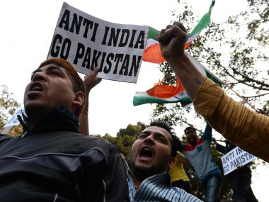 JNU dossier row. Protests in JNU. File photo. AFP