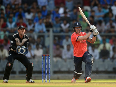 Jason Roy (right) helped setup the victory for England with a 36-ball 55. Getty Images