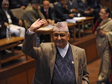 Nepal PM KP Oli. AFP
