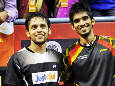File picture of Parupalli Kashyap and Srikanth Kidambi.