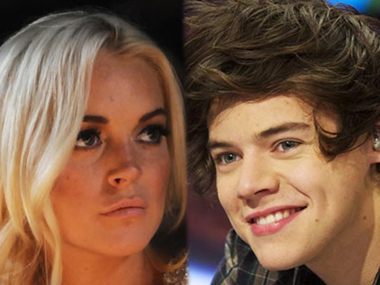 Lindsay says she didn't recognise Harry Styles when he showed up at her hotel room. Image from IBNlive