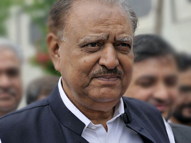 A file photo of Mamnoon Hussain. AP