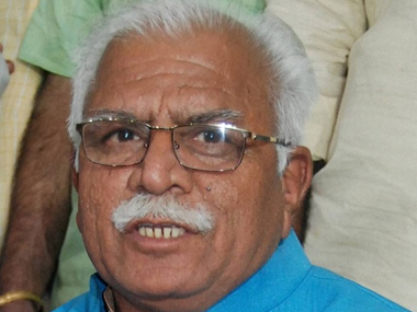 A file photo of Manohar Lal Khattar. PTI