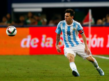 File picture of Lionel Messi playing for Argentina. Getty Images