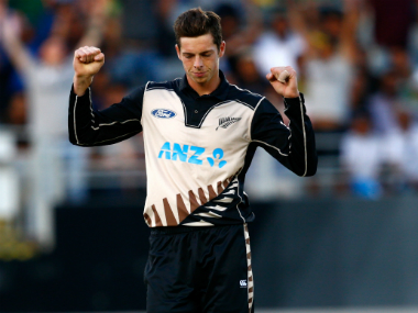 Mitchell Santner's figures of 4 for 11 turned out to be his best bowling performance. Getty Images