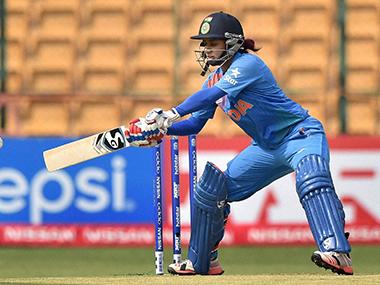 Mithali Raj in action during World T20 opener against Bangladesh. PTI