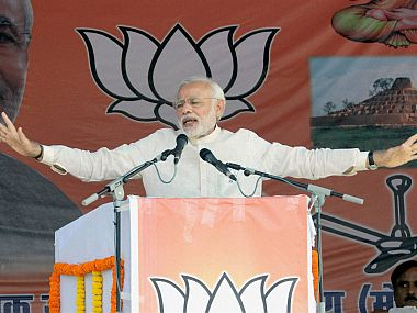 File photo pf Narendra Modi in Bihar. PTI