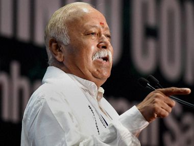 RSS chief Mohan Bhagwat in a file photo. PTI