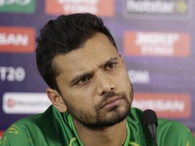 Mashrafe Mortaza at a press conference. AP