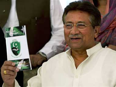 Former Pakistani military ruler Pervez Musharraf. AP