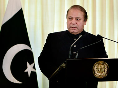 File photo of Nawaz Sharif. AP