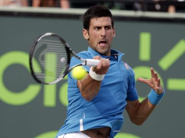File picture of Novak Djokovic. AP