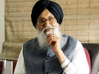 File photo of Prakash Singh Badal. PTI