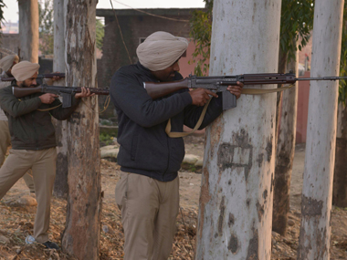 Security forces during the attack at Pathankot. AFP