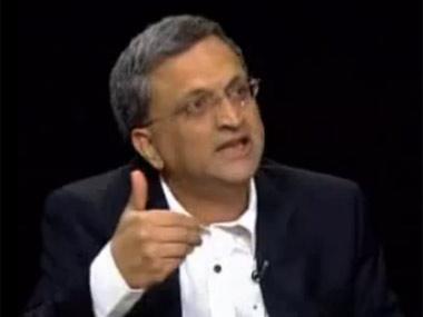 Ramachandra Guha. Screenshot from YouTube video
