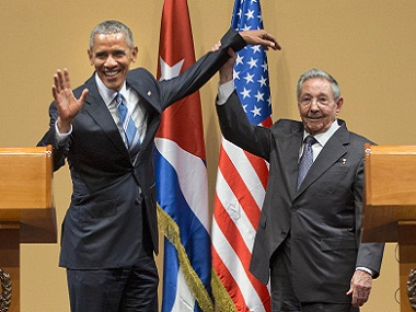Awkward handshake notwithstanding, Obama and Castro achieved a lot on this trip. AP