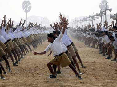 The khaki shorts worn by RSS swayamsevaks might be replaced by trousers. PTI