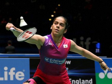 India's Sania Nehwal during her singles match at the All England Open Badminton Championships. PTI