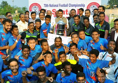 Santosh Trophy Champions, Services. PTI