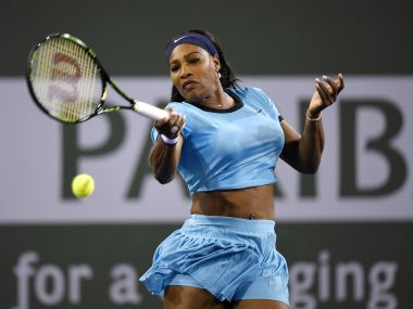 Serena at Indian Wells. AFP