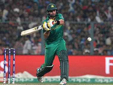 Shahid Afridi in the match against New Zealand. Solaris Images