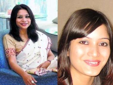 Indrani Mukerjea and Sheena Bora. Agencies
