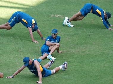 South African team at a practice session ahead of their game against England. Solaris Images