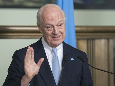 Staffan de Mistura, UN Special Envoy of the Secretary-General for Syria. AP