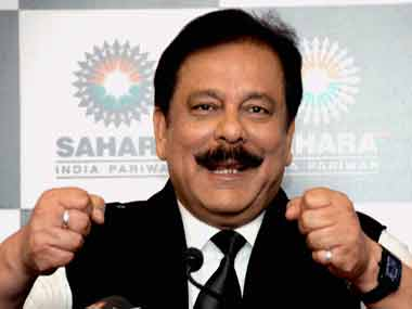 Sahara group head Subrata Roy. PTI