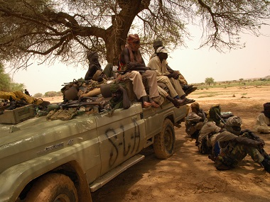 Sudan Liberation Movement (SLM) militants in a file photo. AFP