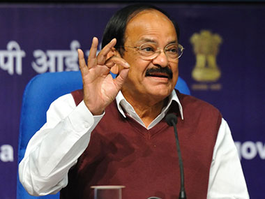 Union  minister for parliamentary affairs Venkaiah Naidu. Image courtesy: Naresh Sharma/Firstpost