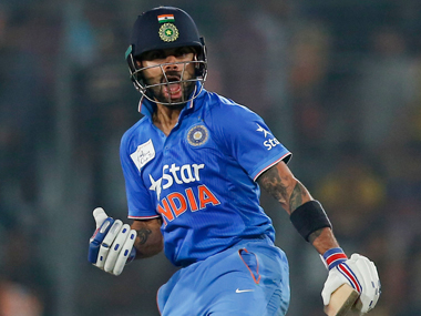 Virat Kohli during India's win over Bangladesh in Asia Cup final. AP