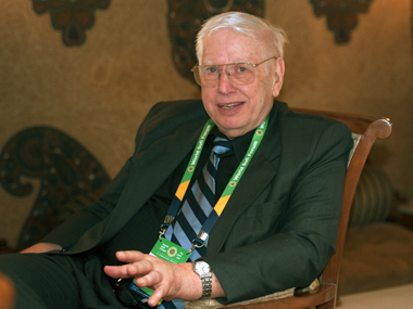 Walter Andersen at the World Sufi Forum last week. Firstpost/Naresh Sharma