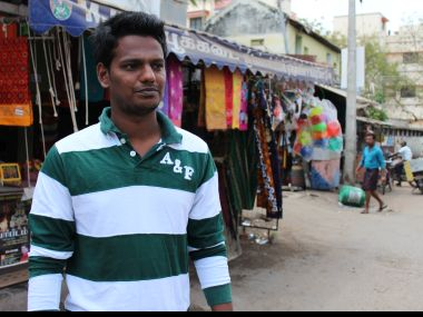 Yogendra Babu is angry at the exorbitant sums he is forced to spend on tertiary education. Firstpost/Sandhya Ravishankar