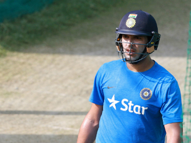 Yuvraj Singh at the practice session in Mohali ahead of the team's clash against Australia. Solaris Images