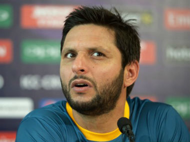 Pakistan World T20 captain Shahid Afridi during a news conference in Kolkata where he said he feels more loved in India tan even in Pakistan. AFP