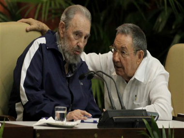 File photo, Fidel Castro, left, and Cuba's President Raul Castro. AP