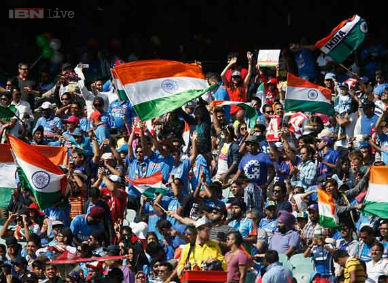 Fans during an India vs Pakistan match. ibnlive