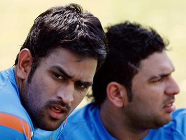 Yuvraj Singh and MS Dhoni. Reuters