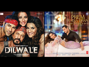 Official posters of Dilwale and Prem Ratan Dhan Payo