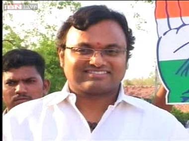 Karti Chidambaram. File photo. IBNLive